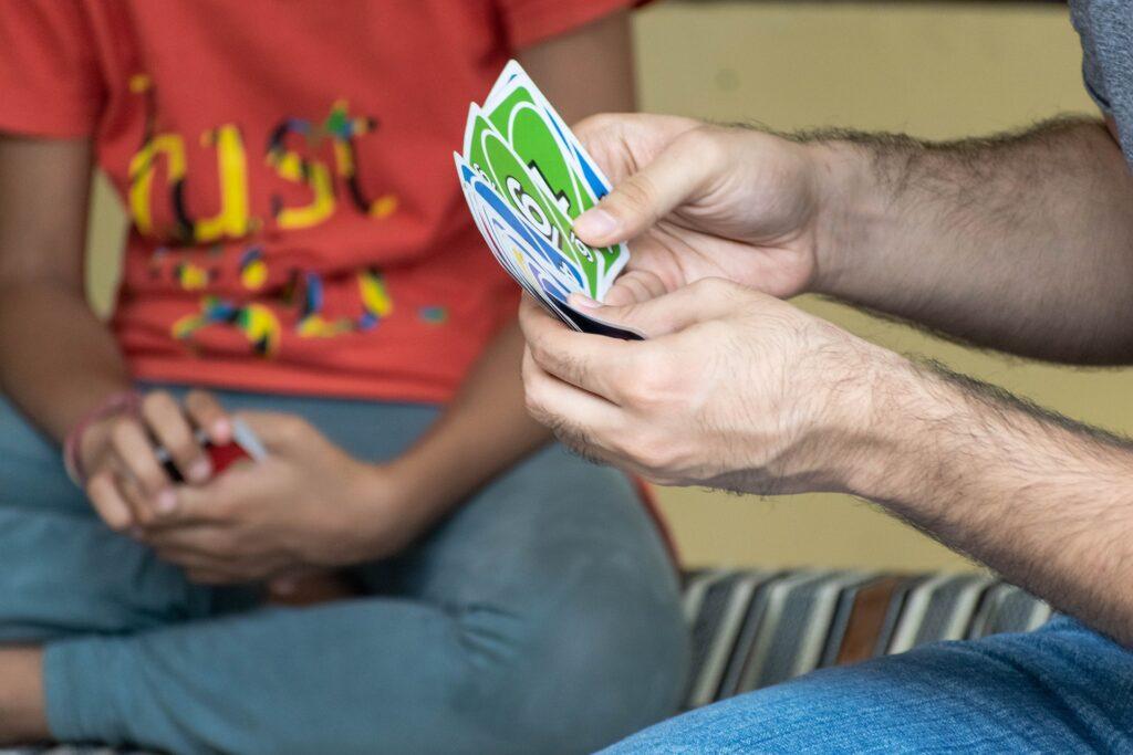 Juego de cartas españolas el burro